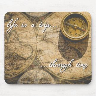 Mousepad a vida é uma viagem… com o tempo!