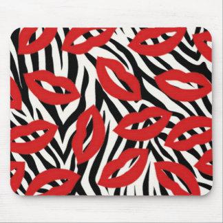 Mousepad A zebra preto e branco listra o tapete do rato