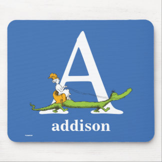 Mousepad ABC do Dr. Seuss: Rotule A - O branco | adiciona