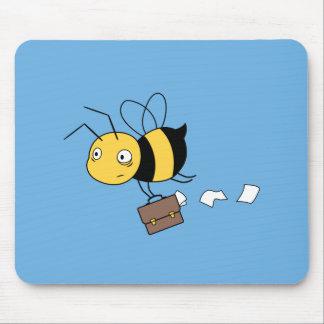 Mousepad Abelha de Beezness, abelha forçada cansado que