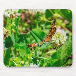 Mousepad Abelha e borboleta