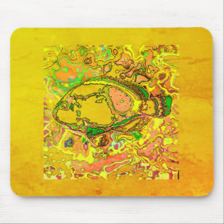 Mousepad Abstract_Fish_Art_II_Multi-Colors-Unisex