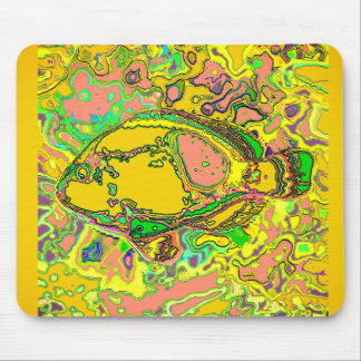Mousepad Abstract_Fish_Art_Multi-Colors-Unisex