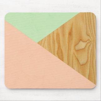 Mousepad Abstrato da madeira e do Pastel