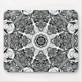 Mousepad Abstrato preto e branco