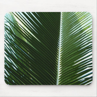 Mousepad Abstrato tropical de sobreposição do verde das
