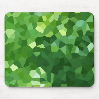 Mousepad Abstrato verde do mosaico do vitral da forma do