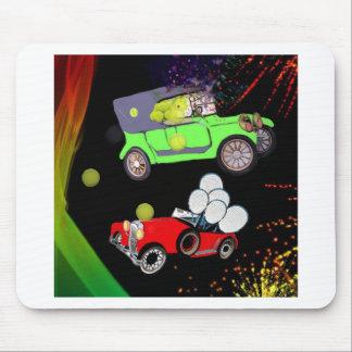 Mousepad Abundância velha do carro da forma de bolas de