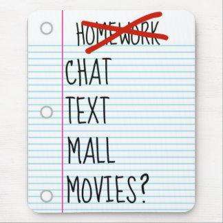 Mousepad Adolescente após planos da escola