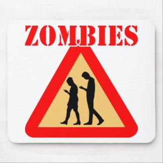Mousepad Adolescentes do zombi com telemóveis