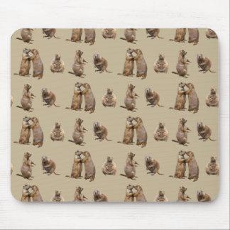 Mousepad Agitação Mousemat do cão de pradaria (ouro)