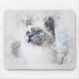 Mousepad Aguarela branca do abstrato | do retrato | do