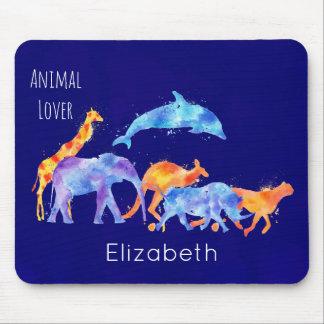 Mousepad Aguarela colorida do rebanho do animal selvagem