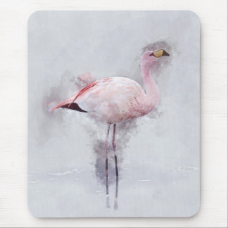 Mousepad Aguarela cor-de-rosa do flamingo