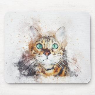Mousepad Aguarela Eyed verde do abstrato | do retrato | do