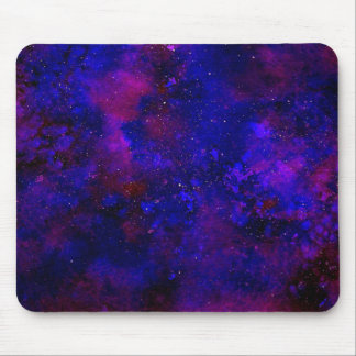 Mousepad Aguarela manchado de tinta do universo azul roxo e