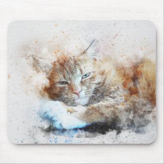 Mousepad Aguarela sonolento do abstrato | da menina | do