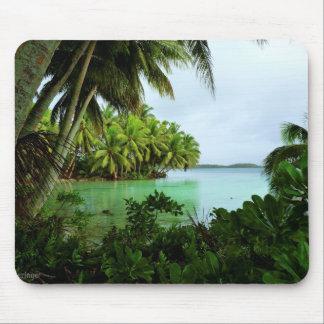 Mousepad Águas e palmeiras de turquesa do paraíso