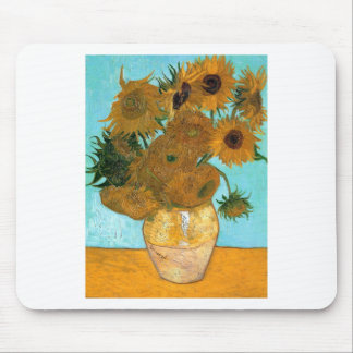 Mousepad Ainda vida: Girassóis - Vincent van Gogh