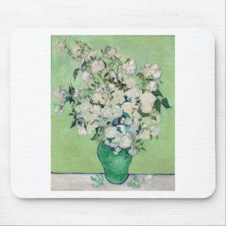 Mousepad Ainda vida: Vaso com rosas - Vincent van Gogh