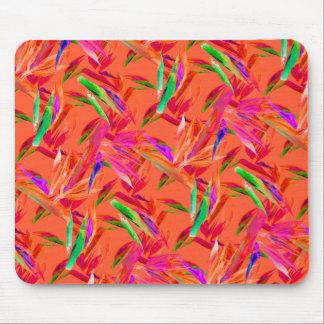Mousepad alaranjado cor-de-rosa abstrato legal e