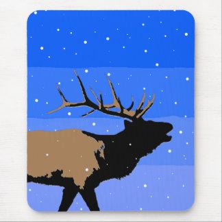 Mousepad Alces de Bugling no inverno - arte original dos