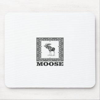Mousepad alces do touro em um quadro
