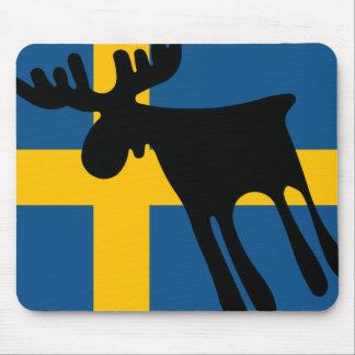 Mousepad Älg / Moose med Svenska flaggan
