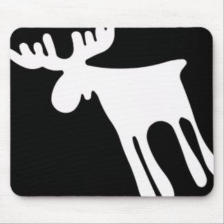 Mousepad Älg / Moose, vit