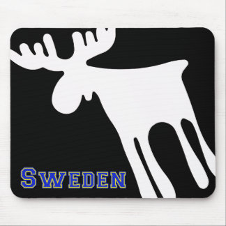 Mousepad Älg / Moose, vit, Sweden