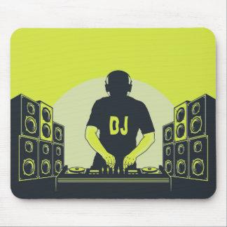 Mousepad Almofada de rato legal do jogador do DJ do Musical