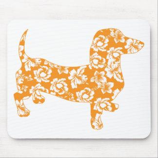 Mousepad Aloha-Doxie-Alaranjado