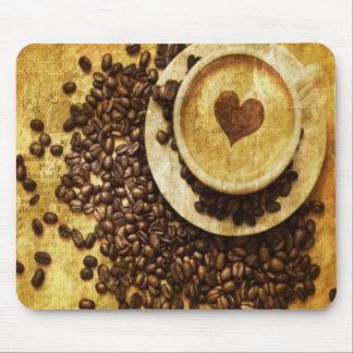 Mousepad Amante chique do café dos feijões de café do
