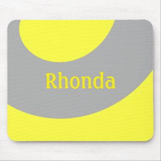 Mousepad Amarelo e cinza