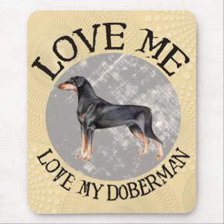 Mousepad Ame-me, ame-o meu Doberman