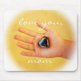 """Mousepad """"Ame-o, a mão da criança da mamã"""" que guardara uma"""