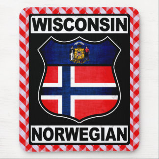 Mousepad Americano norueguês Mousemat de Wisconsin