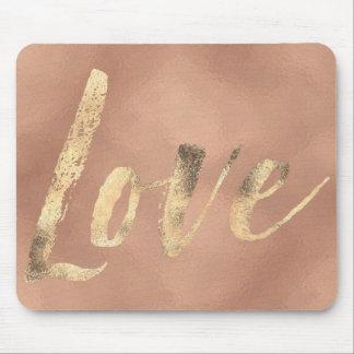 Mousepad Amor cor-de-rosa do encanto do ouro