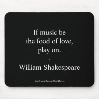 Mousepad Amor das citações de William Shakespeare