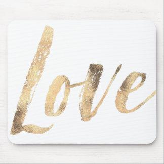 Mousepad Amor do branco do ouro