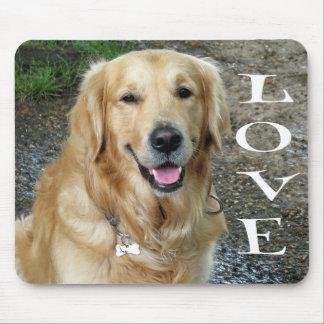 Mousepad Amor do cão de filhote de cachorro do golden