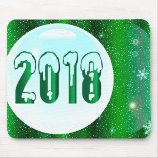 Mousepad Ano novo do verde 2018