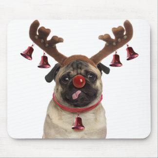 Mousepad Antlers do Pug - pug do Natal - Feliz Natal