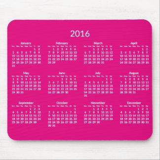 Mousepad Anualmente 2016 mouses pads cor-de-rosa do