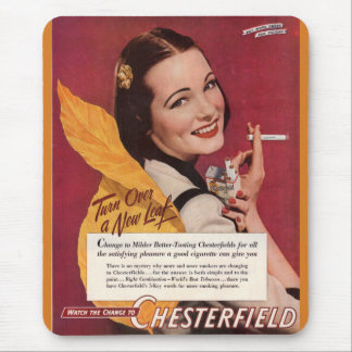 Mousepad anúncio 1944 do cigarro para Chesterfield