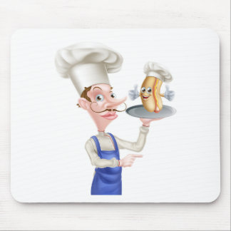 Mousepad Apontar do cozinheiro chefe dos desenhos animados