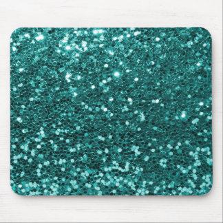 Mousepad Aqua da cerceta do brilho do falso do azul de