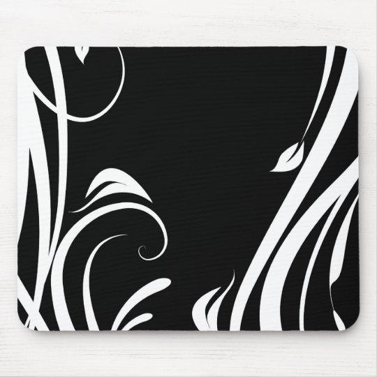 Mousepad arabesco preto e branco