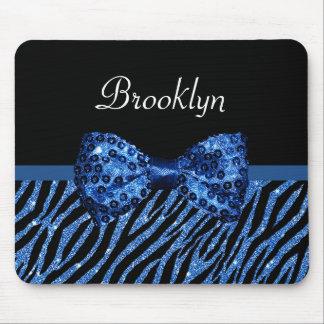 Mousepad Arco azul na moda do Glitz do FALSO do impressão