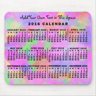 Mousepad Arco-íris mensal do calendário de 2016 anos do